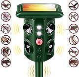 Ultrasonic Animal Repeller Solar Spikes Motion Sensor and Flashing Light Animal Repeller for Lawn Garden Yard