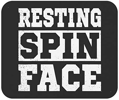 Motivation Gym Mousepad Workout Mousemat - Resting Spin Face Funny Gym Fitness Spinning Class Office Canvas 9Inch Mouse Mat Mouse Pad