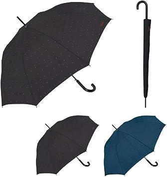 Sistema Antiviento y Autom/ático Paraguas Grande Resistente Paraguas Mujer Bisetti Azul y Largo