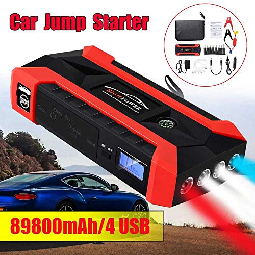 Find Bargain STHfficial 89800mAh 4USB Car Jump Starter Multifunction Emergency Charger Battery Power...