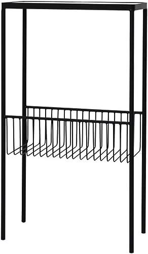 hermoso ZHAS Estantes para mostrador mostrador mostrador de Vidrio y Metal, negro, 40  20  70 cm  precios bajos