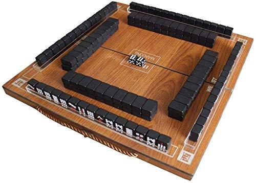 HengYue Portable Travel Mahjong 144 Mahjong Set + Klapptisch + rutschfeste Tischdecke Für Spiele Im Freien