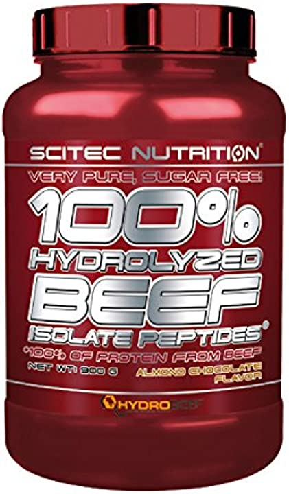 scitec nutrition 100% hydro. beef peptid. 900g almond-c. 0728633110056