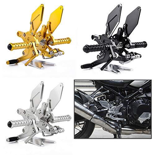 Motorcycle AdjustableRearsetsRear Passenger Footrest Foot Peg Pedal Footpeg Bracket Set CNC Aluminum for Kawasaki Z900RS Z900 RS Z 900 RS Accessories 2018 2019 2020 2021 18-21 (Black) -  FATExpress