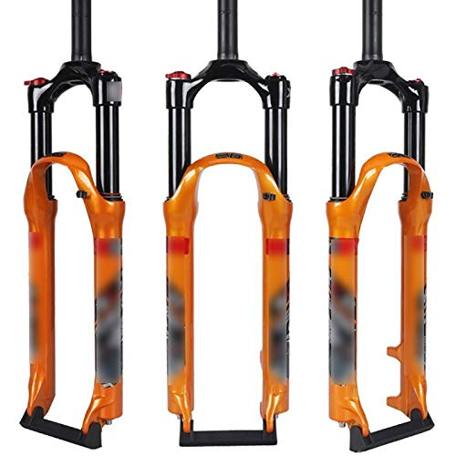 BUMSIEMO Bicicletas Uñas Stunt Clavo Tenedor Frente Bicicleta Montaña Gas Hombro Control Lock Aleación Aluminio Naranja