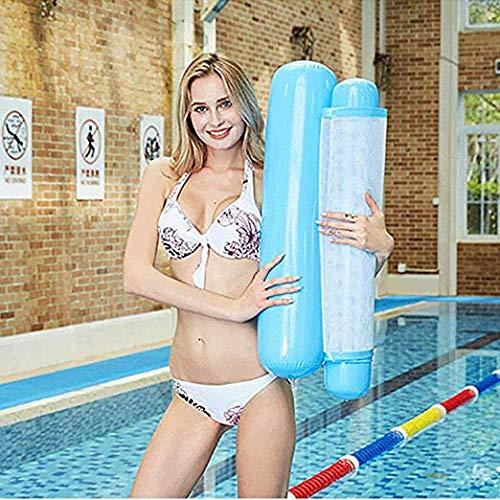 COWINN Cama hinchable para piscina 4 en 1, hamaca de agua, tumbona para piscina, tumbona hinchable para piscina, hamaca, color azul