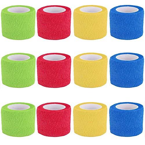 Vendaje cohesivo,12 Vendajes Elásticos Adhesivos Adhesivos Para Camuflaje de La Pegatina de Bicicleta de Caza (B)