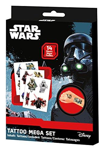 Craze Tattoos Star Wars Tattoo Box 14 Bögen Kindertattoos Kinderschmuck Party Mitgebsel 55701, Kindertattoo