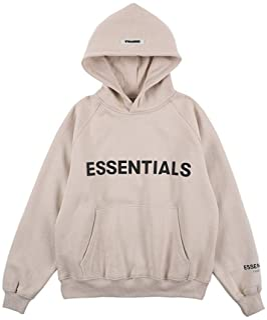 Kxin Fashion Fear of God Essentials Letter Fleece Sweatshirt Hoodie for Men and Women