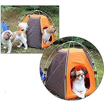 Hlyp Pet Tente Étanche Pet Petit Chien Chien Clôture Extérieur Tente Portable Détachable Pet Cat Pliant Kennel Maison Chiens Cage for Camping (Color : Color 1)