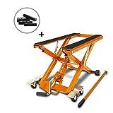 Caballete Elevador Tijera Moto Hidraulico ConStands Lift XL Naranja Incl. 4 Bloques de Goma