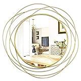 ironsmithn Espejos decorativos redondos de pared para baño, sala de estar o dormitorio, 68 x 68 cm