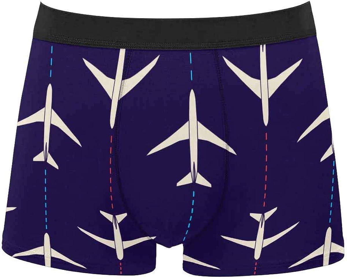 InterestPrint Adult Classic Comfort Boxer Briefs Yoga Shorts Underwear Pattern Shark