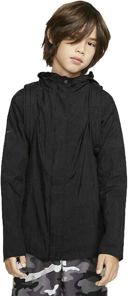 Nike Sportswear Boy's (Big Kids) Tech Pack Backpack-It Packable Jacket - Black
