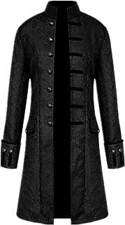 Giacca da uomo gotico Steampunk Vintage vittoriano Frock Coat uniforme costume medievale trench