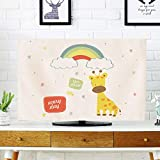 catch-L Innen Cartoon LCD TV-Cover Displayabdeckung Staubschutz Stoff (Color : Deer, Size : 19inch-46 * 35cm)