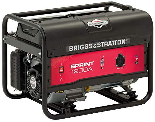 Briggs & Stratton SPRINT 1200A tragbarer Stromerzeuger, Generator, Benzin – 900 W Betriebsleistung/1125 W Startleistung, 030670