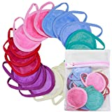 NUGILLA | 18 Packs Reusable Makeup Remover Pads with Washable Laundry Bag | Microfiber Cleansing Facial Rounds Wipes Eyes/Lips Clean for Women Men | Eco-Friendly Gifts