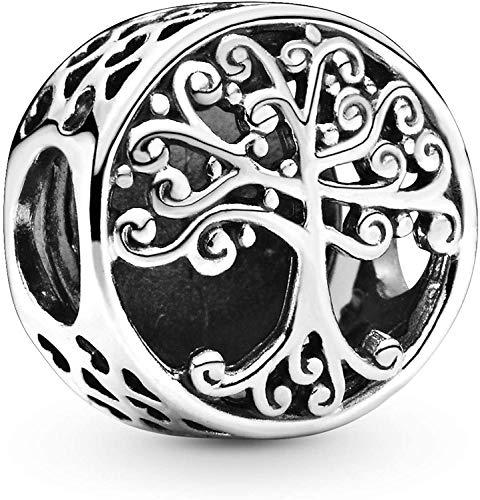 MariaFonte Abalorio de árbol de la vida de plata de ley 925, compatible con las marcas más populares de pulseras y collares.