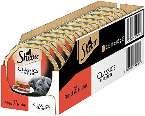 Sheba Classics in Pastete, Katzenfutter als Pasteten mit feinen Stückchen, für jeden Tag