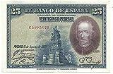 MATIDIA ESPAÑA 1928 Billete Original DE 25 PESETAS CALDERÓN DE LA Barca