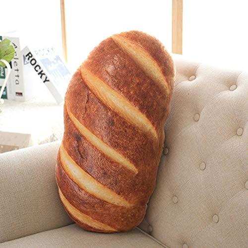 N\C 50cm 70cm 3 Tipos de Almohada Creativa con patrón de Pan, Divertida Almohada Suave para el Cuello, Relleno de algodón PP, Almohada para el Cuidado de la Salud Cervical