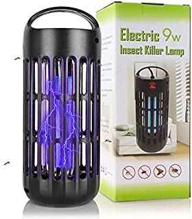 Defender Pro Mosquito Killer Electronic Insect Bug Zapper UV Light Kill Flying Pests Gnat Trap Catcher Attractant Lamp 800V Grid for Indoor Home. Black