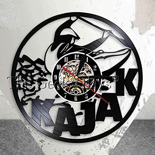 xiaoxong658 Reloj De Pared De Vinilo para Kayak, Arte De Pared, Deportes Acuáticos, Exploración, Kayak, Reloj De Pared, Kayak, Vinilo Retro, Reloj De Pared, Regalo para Kayakista