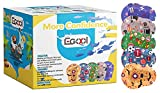 EGOOL Cool Eye Patches, Adhesive Eye Patches, 50 Pack Breathable Eye Pad for Boys, Colorful and Fun Designs, Individually Wrapped Eye Patches For Kids, Regular Size