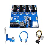 AAAwave PCI-E 1x to 4 PCI-E Multiplier HUB Adapter (Pack of 1)