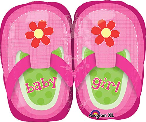 Amscan Baby Girl Pretty Shoes Junior vorm folie ballonnen, roze