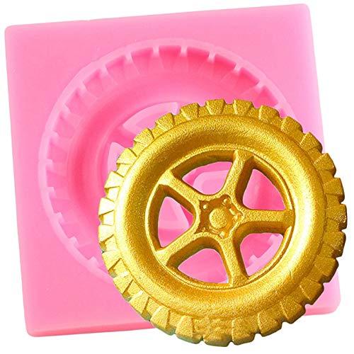 JLZK Moldes de Silicona para neumáticos, Molde para Fondant, cumpleaños de bebé, Herramientas de decoración de Pasteles, Molde de Arcilla de Resina, moldes de Chocolate y Caramelo