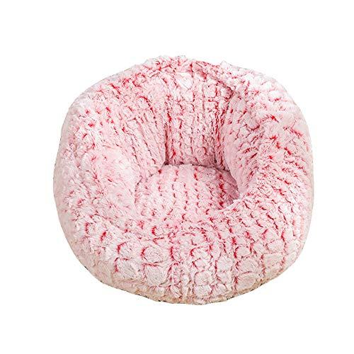 XYBB Huisdierbed, kattenbed, bank, diepe slaapbank, sofa, kattenbed, voor kleine katten, verdikking, winter, warm katje, nest, 40 * 40 * 27cm, Roze verstelbaar.