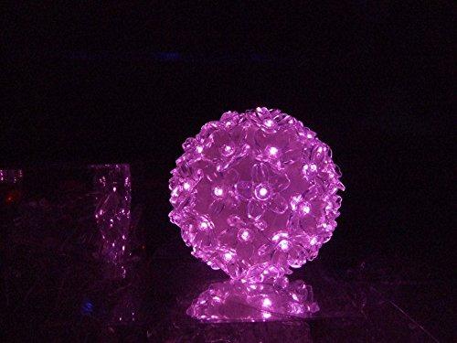 Lámpara colgante de bola rosa con 50 luces LED de Navidad [15110424]
