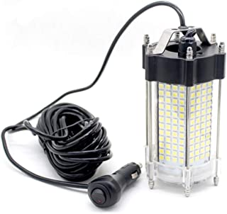 Jiawill Underwater Fishing LED Light 297 LEDs 9V-35V 41.8Watts 4000lumens Night Fish Attracting 33ft(10M) Cable