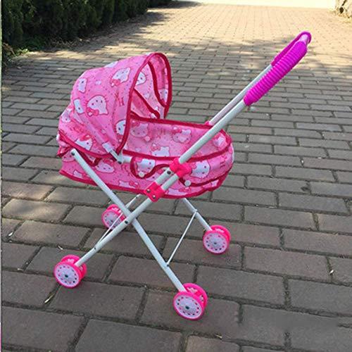 zqq Jouet Jouet pour Enfants Poussette Fille Jouet Bébé Jouer Maison Jouet Fer Chariot 54 * 34 * 26 Cm