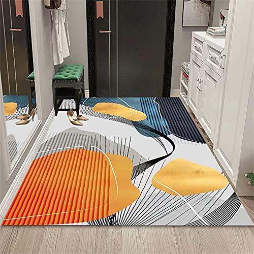 Alfombra Juvenil Marrón Alfombra de Sala de Estar Marrón Modelo Minimalista Abstracto con Alfombra Duradera Suave Decoracion Salon 180x250cm alfonbras de dormitorios 5ft 10.9''X8ft 2.4''