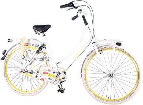 Fahrrad Frau Dutch Oma Salutoni Cartoon 28 Zoll H56 Shimano Nexus 3-Gang 95% Montiert Weiß
