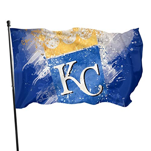 Kansas-City-Royal&s Flag 3x5 ft Banner Flags Decorative for IndoorGarden Flag Polyester Fabric Fade Resistant
