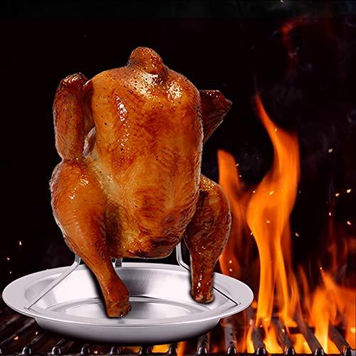 Emoshayoga Herramientas para Asar a la Parrilla con Soporte para Pollo Grueso para Horno de Cocina para Pato