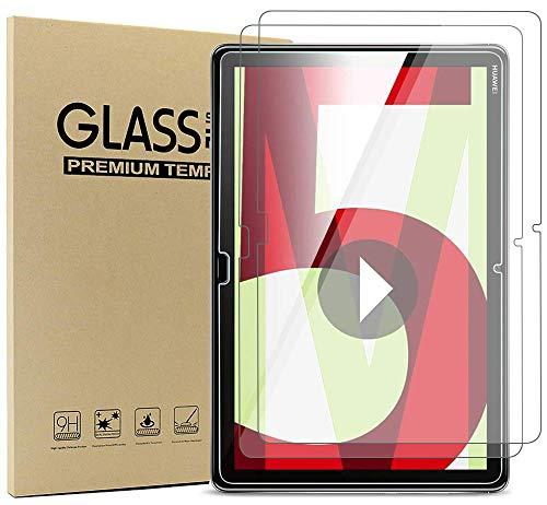 Ash-case [3 Pezzi Compatibile con Huawei MediaPad M5 Lite LTE(10,1 Zoll) Tablet - Proteggi Schermo in Vetro temperato - [Bordo Tondo 3D] [Durezza 9H] [Cristallino] [Resistenza ai Graffi], Cancella