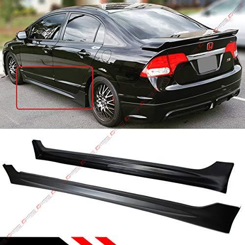 Fits for 2006-2011 Honda Civic 4 Door Sedan Mug RR Style Side Skirt Extention Panel