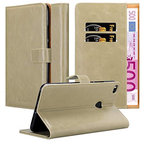 Cadorabo Hülle für Xiaomi Mi Max 2 - Hülle in Cappucino BRAUN – Handyhülle im Luxury Design mit Kartenfach & Standfunktion - Hülle Cover Schutzhülle Etui Tasche Book