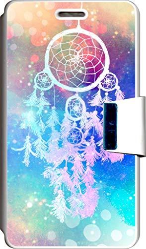 SUPER STICKER Funda Libro para Samsung Alpha Cover Flip Blanco, con Dibujo, Ref: 218
