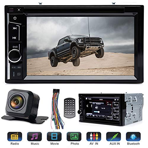 """Double 2 Din Car Stereo 6.2"""" Touchscreen with Rear View Parking Camera for..."""