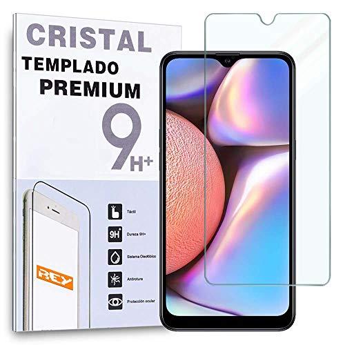 REY Protector de Pantalla para Samsung Galaxy A10s, Cristal Vidrio Templado Premium
