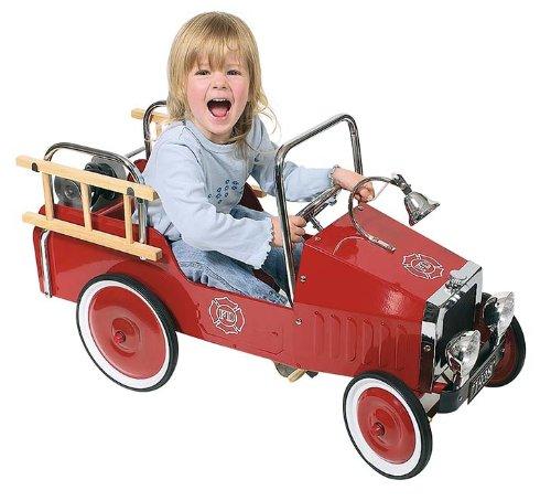 GoKi - Camioncino dei Pompieri cavalcabile, in...