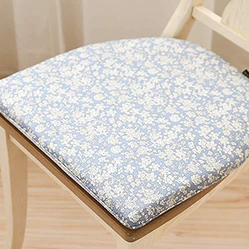 Almohadillas antideslizantes para sillas de comedor, tatami, cómodos cojines de cocina, para jardín, hogar, oficina, azul cielo 41 x 45 cm