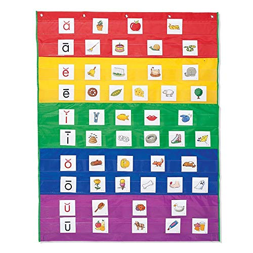 Learning Resources Rainbow Pocket Chart, Nylon