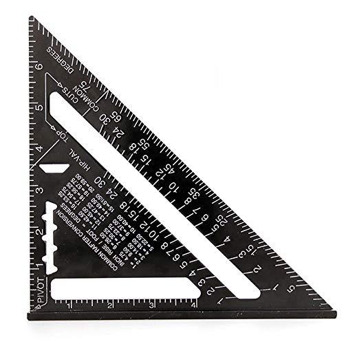 7 Pulgadas Regla Triangular Cuadrad, Ángulo de Tope Imperial, Goniómetro de Regla, Transportador Triangular, Herramientas Con Acabado, Para Techo, Construcción